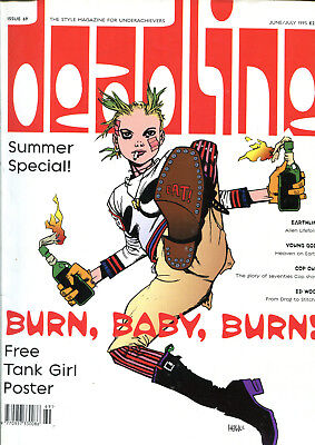 DEADLINE June/July 1995 with pristine TANK GIRL Poster