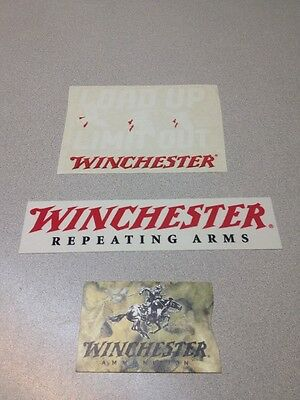 Winchester Repeating Arms Logo Sticker & Card Holder Lot Gun Rifles 70 94 1866
