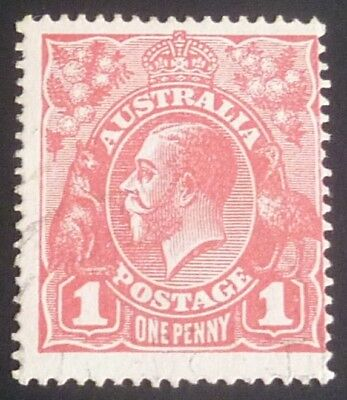 KGV 1d Red Single Crown Wmk with Inverted Wmk Plated Pane 6.24 ACSC 71(3).