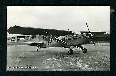Pleasure Flights Great Yarmouth 1968 Auster, real photo postcard and ticket