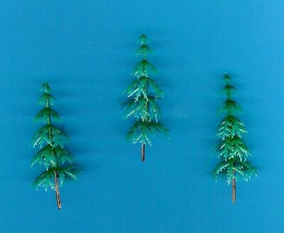 GREEN TREE (Pack of 10) Cake Decoration / Decorating / Christmas / Model Making
