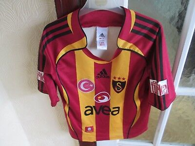 Adidas Boys Vintage Galatasaray Football Shirt Size 128 Age 8+ Chest 30 Inches