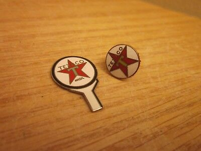 2 Small Texaco Collectibles Tie Tack Pin Gas Oil L@@k *free Shipping*