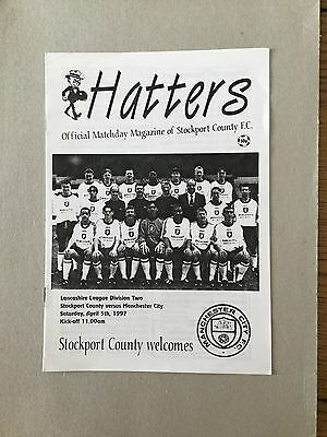 STOCKPORT COUNTY Res v MANCHESTER CITY Res 1996/7.