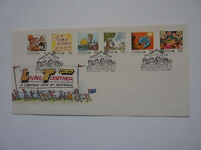 Australia Living Together 1988 FDC