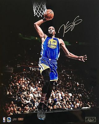 "KEVIN DURANT Autographed Warriors ""Slam Dunk"" 16 x 20 Photograph PANINI LE 1/35"