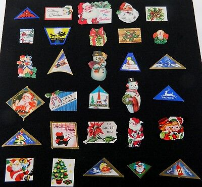 Vintage Christmas Seals Stickers Lot of 50 Assorted Gummed Back 1930's to 1950's