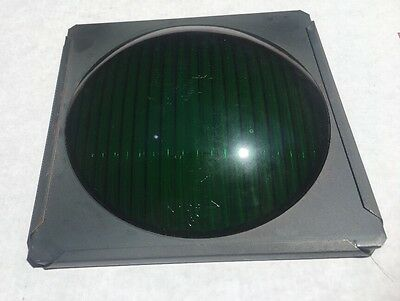 Osram Replacement GLASS Lens GREEN Stage Lighting Stop Light New Old Stock
