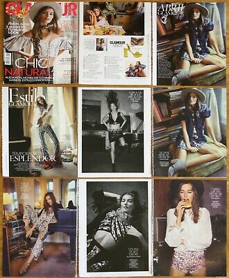 JOSEPHINE LE TUTOUR Glamour 2017 cover & 12 page article magazine clippings