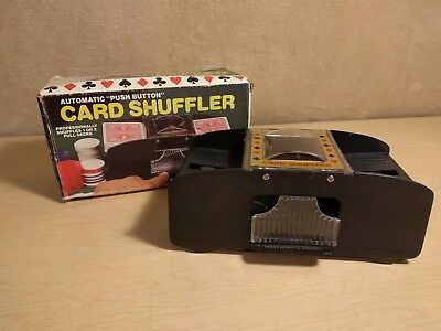 Vintage~1-2 Deck~Card Shuffler~Playing~Poker~Rummy~Bridge~Works~