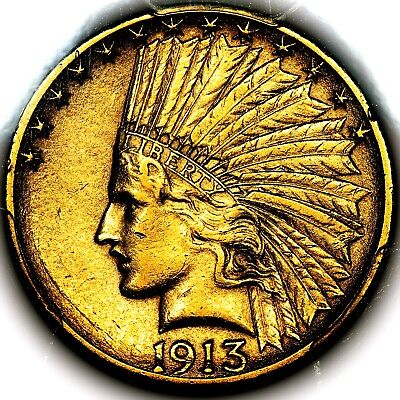 1913 S United States San Francisco Double Eagle Ten Dollars $10 PCGS AU55