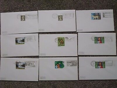 GB STAMPS Collection of SLOGAN postmarks on envelopes. Postmark Club. Great Cond