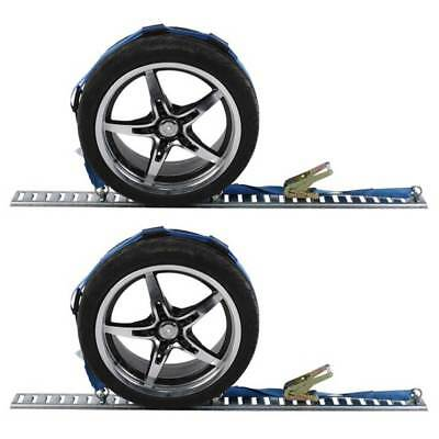 Wheel Strap with Etrack Fittings & 3 Rubber Blocks - 2 Pack