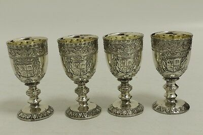 Very Ornate Silver Metal Egg Cups (SL21)