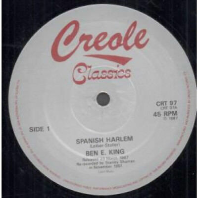 """BEN E.KING Spanish Harlem 12"""" VINYL 3 Track B/w Stand By Me Medley And  Don't"""