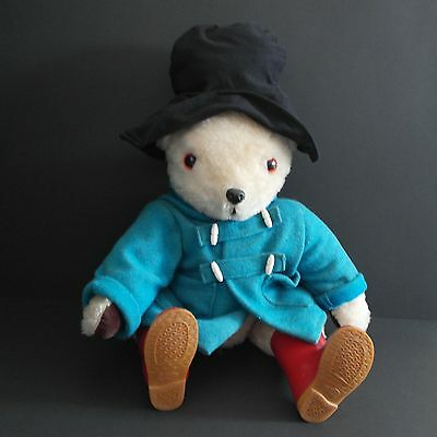 Vintage Paddington Bear With Dunlop Wellies Wellington Boots