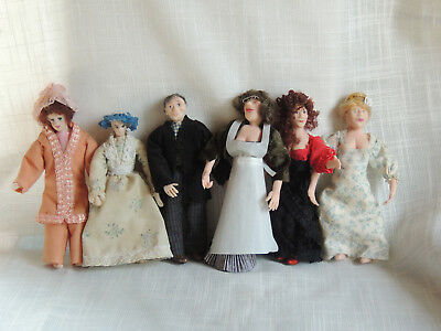1/12Th Scale Dolls House Miniatures Dolls X 6