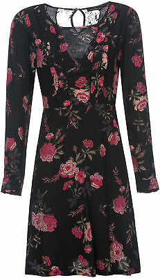 Vive Maria VICTORIAN ROSE Vintage LACE Peephole Floral DRESS Kleid Rockabilly