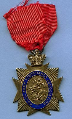Royal Army Temperance Silver Medal (36.8 Grams 52mm x 42mm)