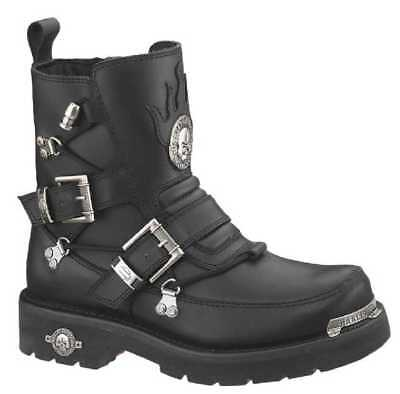 Harley-Davidson Men's Distortion Skull Metal Motorycle Black Boots D94167