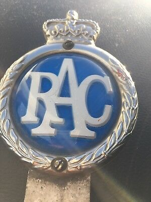 Vintage rac car badge