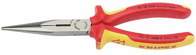 Knipex 26 18 200 VDE Insulated Long Nose Pliers 200mm 32012