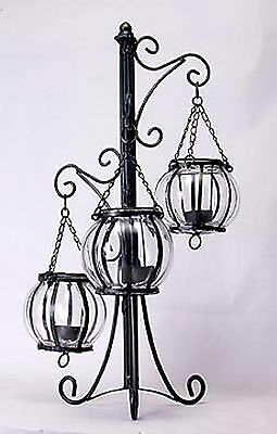 Metal and Glass Candle holder decor art