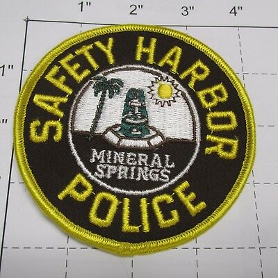 Old Safety Harbor Police Dept Shpd Mineral Springs Rare Vintage Florida Patch