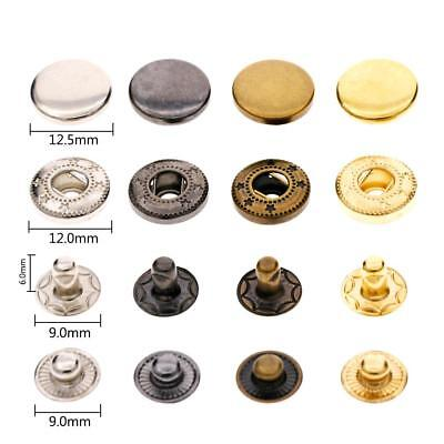 New Leather Craft Snap Fasteners Snaps Button Press Studs with 633# Fixing Tools