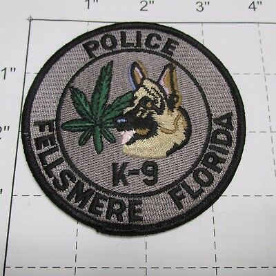 Fellsmere Police Dept Narco Drugs Pot Shepherd Canine Dog K-9 Unit Florida Patch