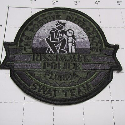 Kissimmee Police Dept Kmpd Swat Tactical Subdued Srt Team Camo Ops Florida Patch