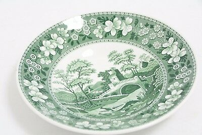 """SPODE Archive Collection Small Bowl in Green Pattern """"The Tower"""" (SL3)"""