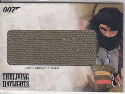 Living Daylights Prop 007 James Bond Rittenhouse Relic Card Rc15 Bomb Gren. Sack