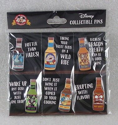 Disney Trading Pins Disney- Spices HOT SAUCE Sealed Booster Set of 6