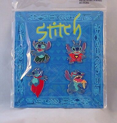 Disney Trading Pins LILO AND STITCH ... VERY SCARY !  Sealed Booster Set of 4