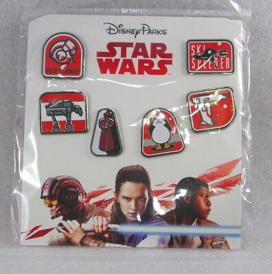 Disney Trading Pins    STAR WARS THE LAST JEDI MOVIE    Booster Set of 6 *NEW*