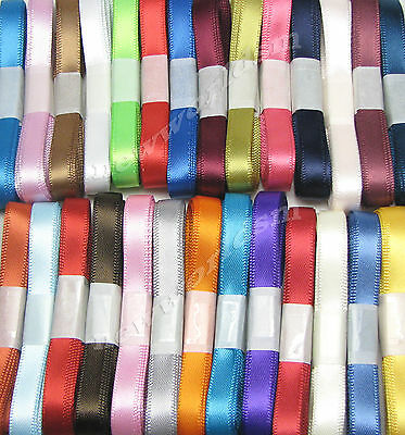 "10yds 38mm 1 1/2"" Mixed Premium Single Faced Satin Ribbon  Eco Gift FREE PP"