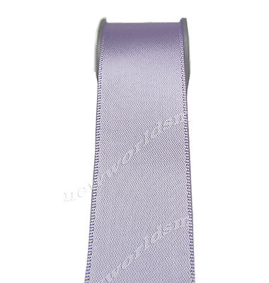 "5y 50mm 2"" Lt. Orchid Single Faced Sided Premium Wide Satin Ribbon Eco FREE PP"