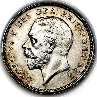 1931 King George V Great Britain Silver Wreath Crown Coin PCGS MS63