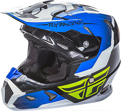 Fly Racing YOUTH Toxin Helmet / Blue/Black/White - All Sizes