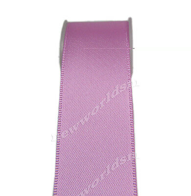 "4y 57mm 2 1/4"" Rose Pink Double Sided Premium Heavy Satin Ribbon Eco FREE PP"
