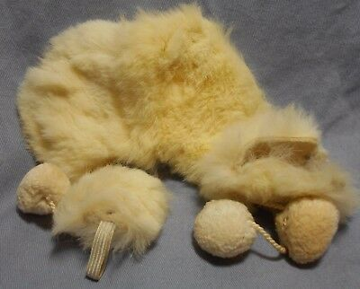 "VTG 1950's 8"" Doll Items 3pc Rabbit Fur Set Cape Muff Hat Ginny Pam Ginger NICE"