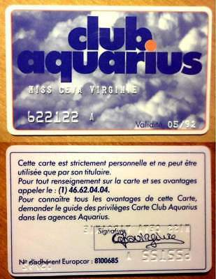 Carte Personnalisee - Club Aquarius - 05/92