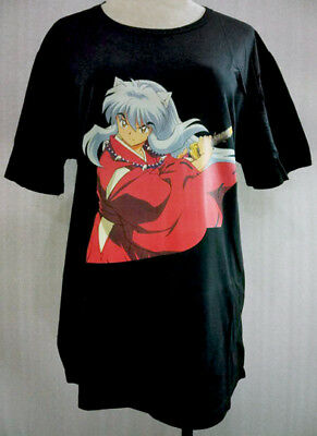 Limited M XL Inuyasha T-shirt Anime Costume Halloween Cosplay INTS7876