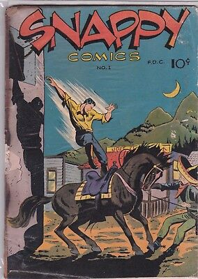 SNAPPY COMIC  # 1   1940s    SPECIAL AGENT # 1