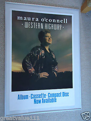 Maura O`connell Music Poster 1987 Original Unreleased Poster Western Highway Gem