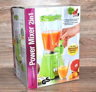 2-in-1 POWER MIXER by GOURMETMAXX GRÜN 400W 5 STUFEN STANDMIXER MAHLWERK wie NEU