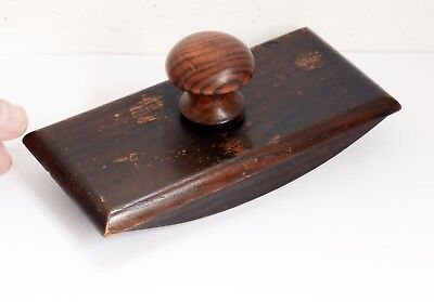 Lovely Vintage Wooden Desk Ink Wooden Blotter - Top Unscrews for Blotting Paper.