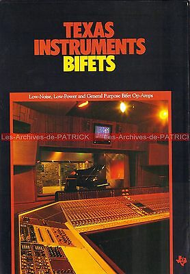TEXAS Intruments BIFETS Studio d'enregistrement Documentation Publicité Vintage