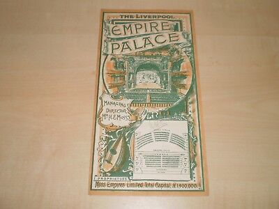 Nov 1903 Liverpool Empire Theatre Fold-Out Programme With Lots Local Adverts